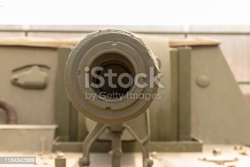 istock close-up of tank or howitzer  gun muzzle 1154342569