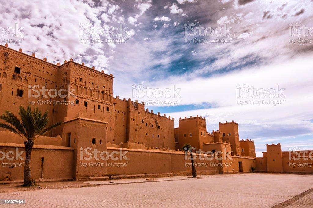 Nahaufnahme der Taourirt Kasbah in Ouarzazate, Marokko – Foto