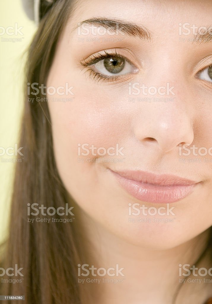 close-up of teenage girl stock photo