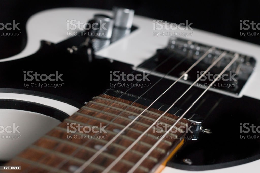 Close-up of Telecaster style guitar royalty-free stock photo