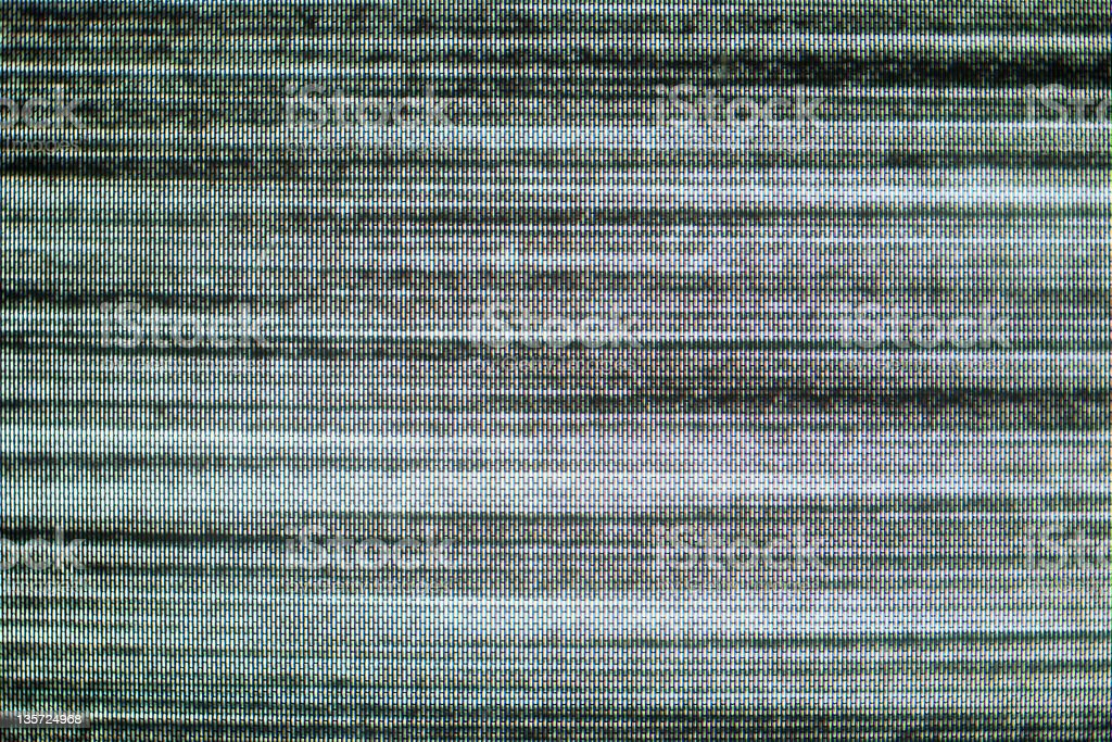 Close-up of television static stock photo