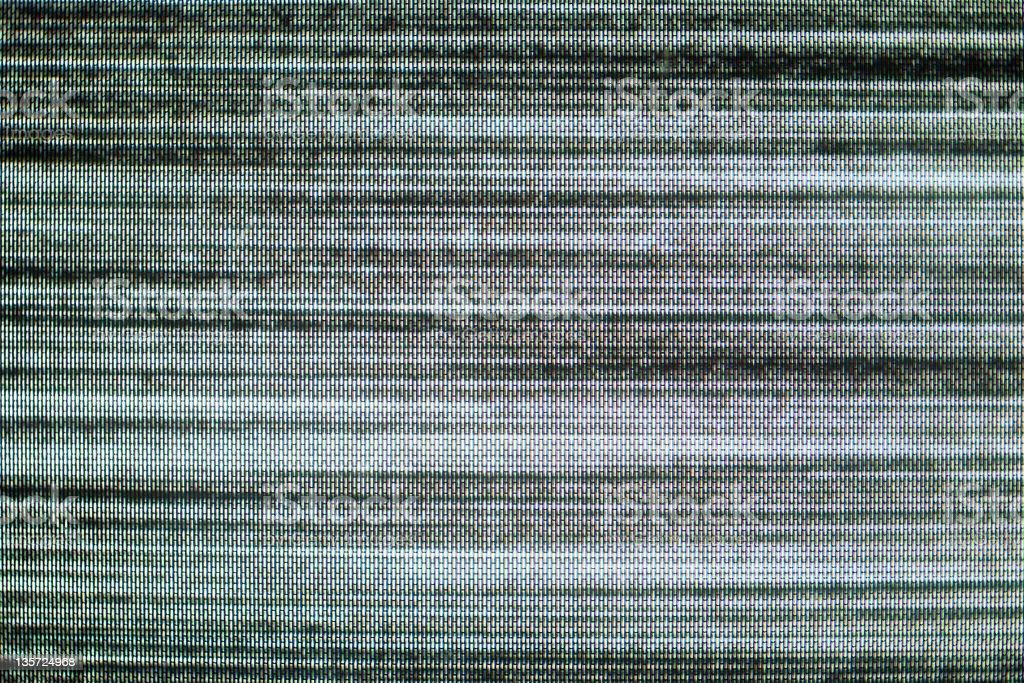 Nahaufnahme von Bildstörung – Foto