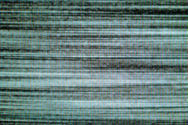 plano aproximado de televisão estática - televisão estática imagens e fotografias de stock