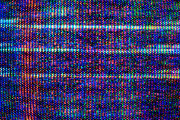 estática de televisión - video modelo fotografías e imágenes de stock