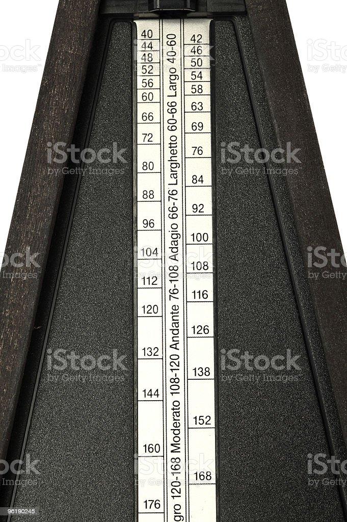 closeup of tempo settings on metronome moderato to largo stock photo