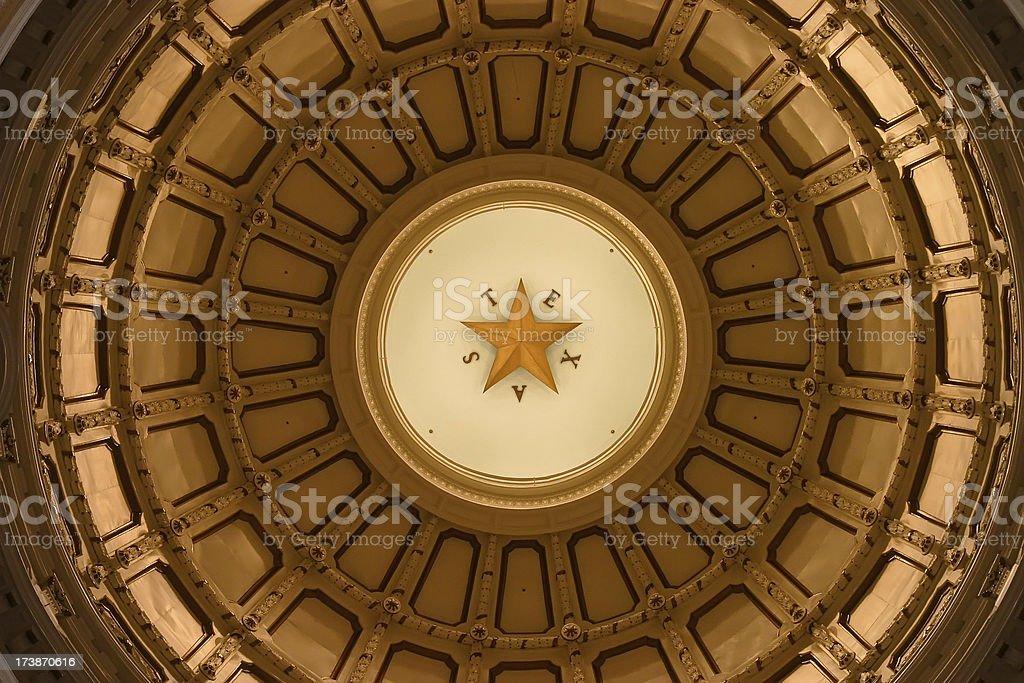 Closeup of Texas Capital Rotunda royalty-free stock photo