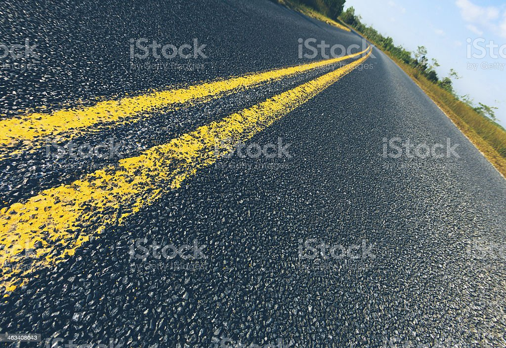 Close-up of texture of a country road royalty-free stock photo
