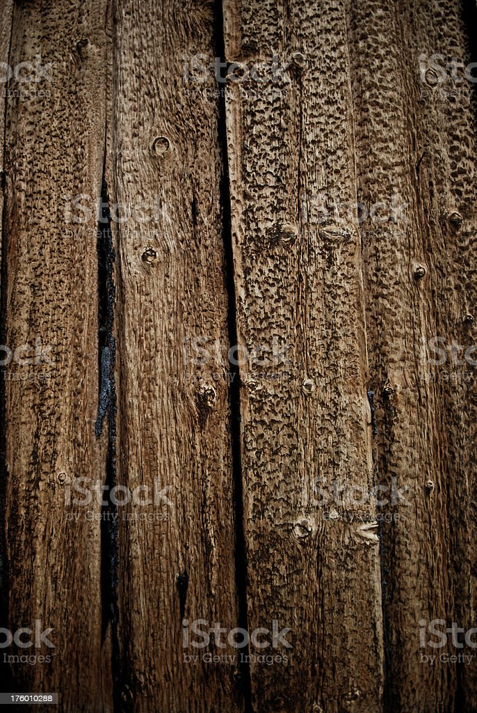 Close-up of textures and weathered old wood royalty-free stock photo