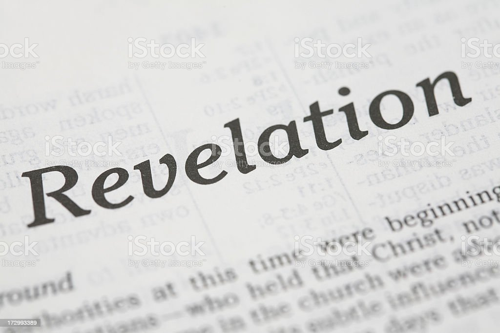 Closeup Of The Book Revelation royalty-free stock photo