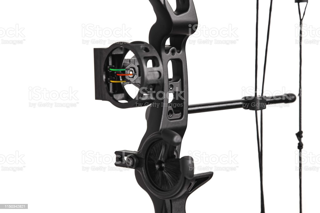 Closeup Of The Cam On A Compound Bow Modern Compound Hunting Bow And