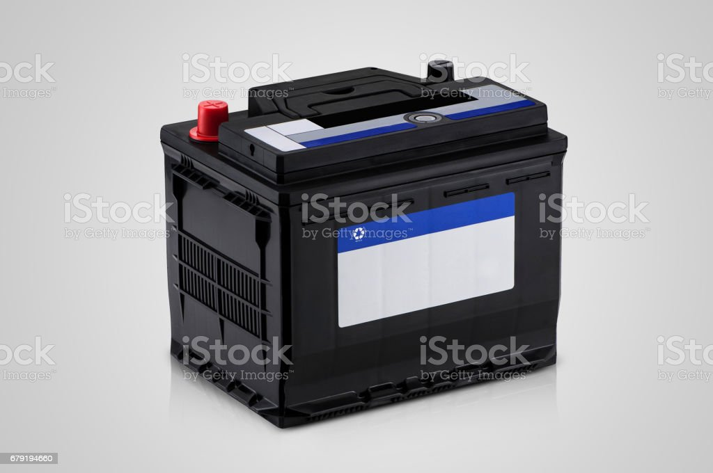 closeup of the car battery stock photo