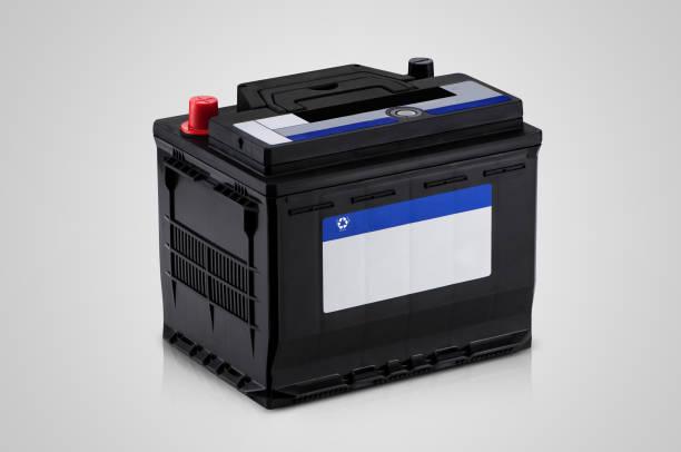 Nahaufnahme der Autobatterie – Foto