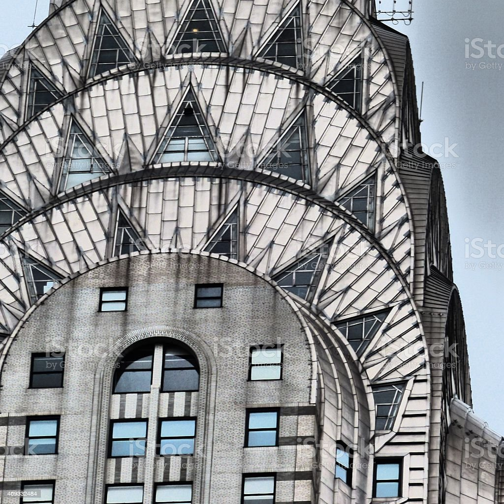 Close-up of the Chrysler building in New York bildbanksfoto
