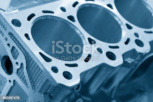 istock Close-up of the cylinder block 860487476
