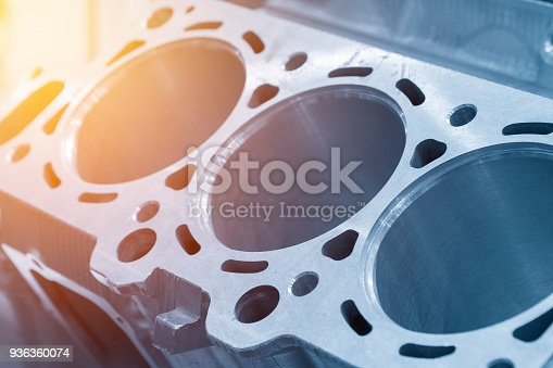 istock Close-up of the cylinder block 936360074