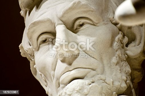 istock Close-up of the face of Abraham Lincoln Memorial 182920961
