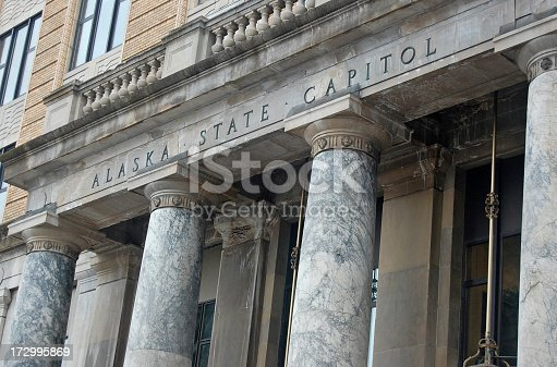 Front of Alaska's State Capitol