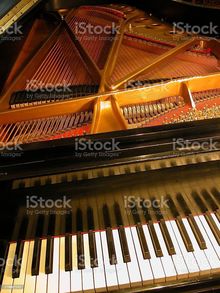 A close-up of the keys of a piano royalty-free stock photo