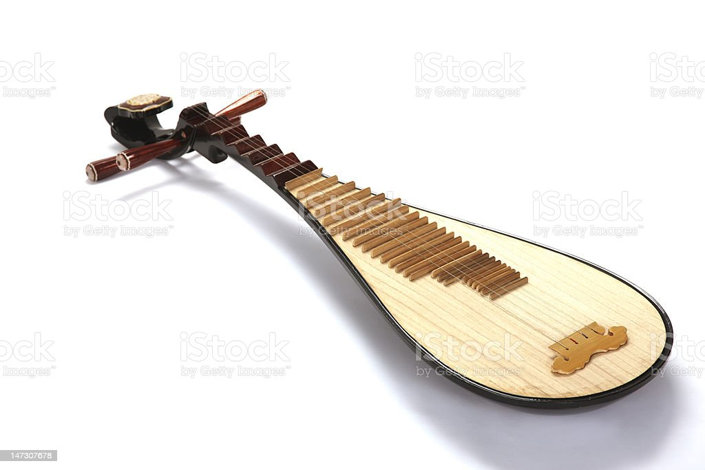 Closeup of the lute instrument stock photo