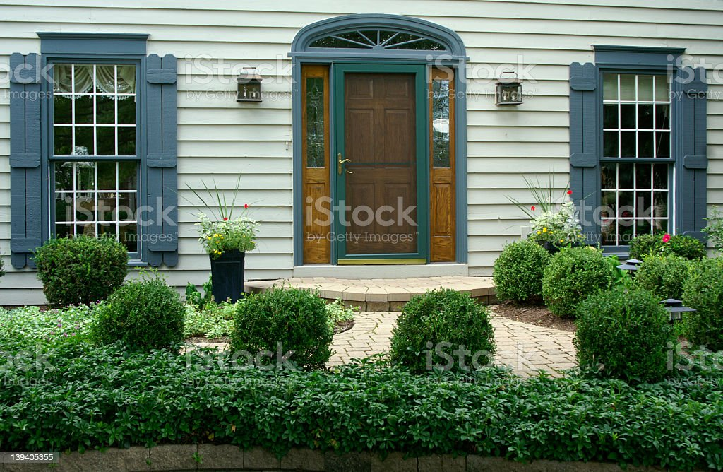 Close-up of the outside of someone's home royalty-free stock photo