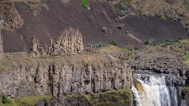 Close-up of the Palouse Falls stock photo