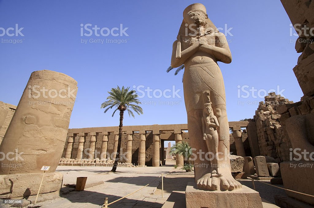 Close-up of the Rameses II statue stock photo