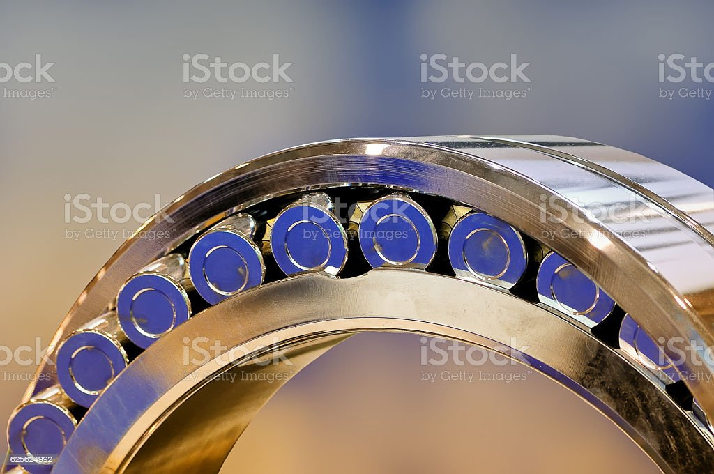 Close-up of the rolling bearing stock photo