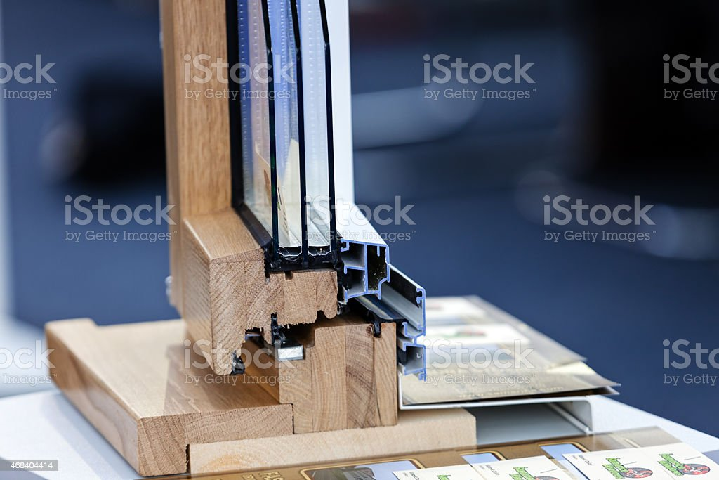 Close-up of the several layers that makes up a window stock photo