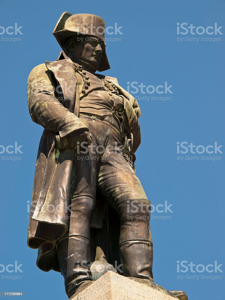 Close-up of the statue of Napoleon in Ajaccio royalty-free stock photo