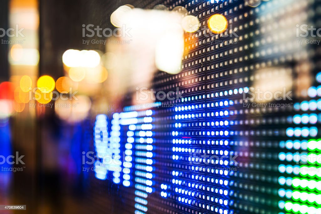 Close-up of the stock market financial data stock photo