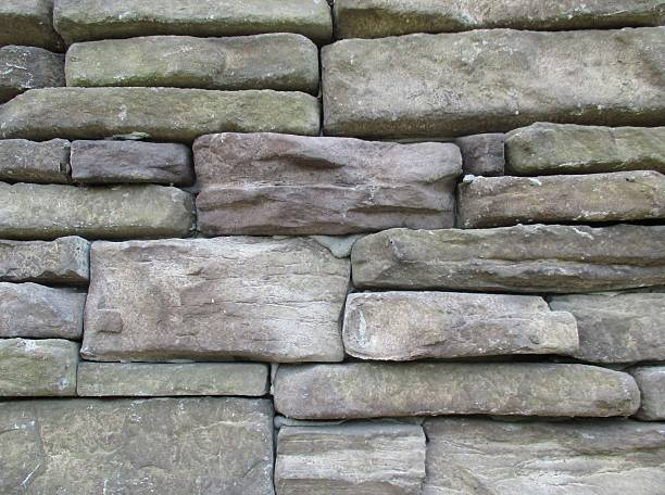 Close-Up of the Stone Wall of a Building stock photo