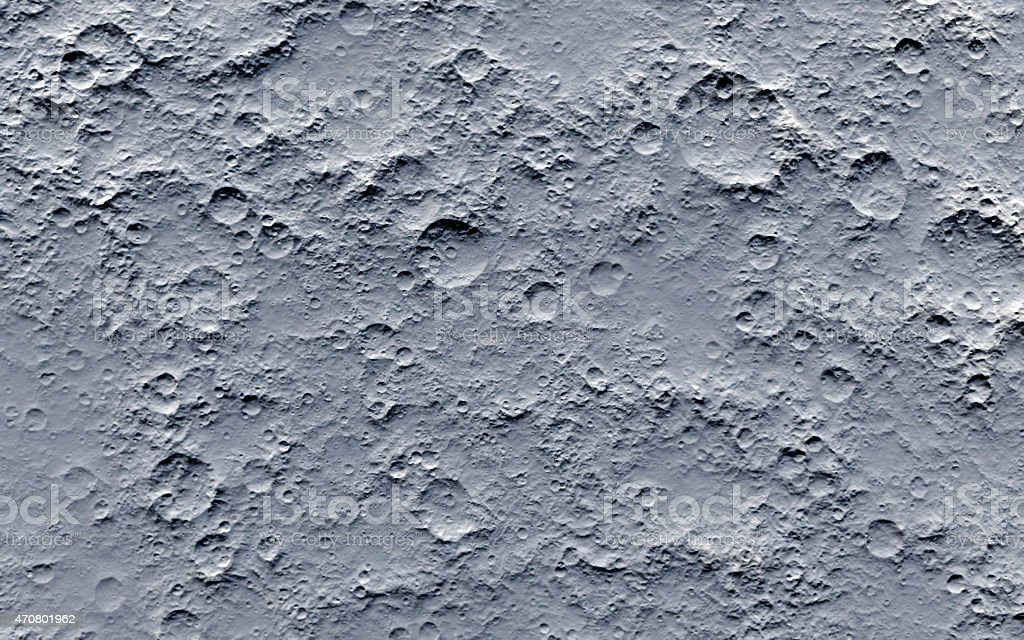 Close-up of the surface of the moon stock photo