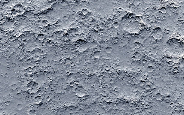close-up of the surface of the moon - moon stock pictures, royalty-free photos & images