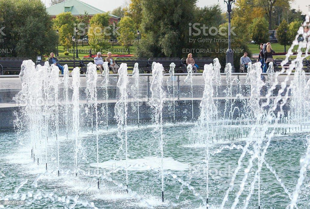 Close-up of the Tsaritsyno fountain royalty-free stock photo