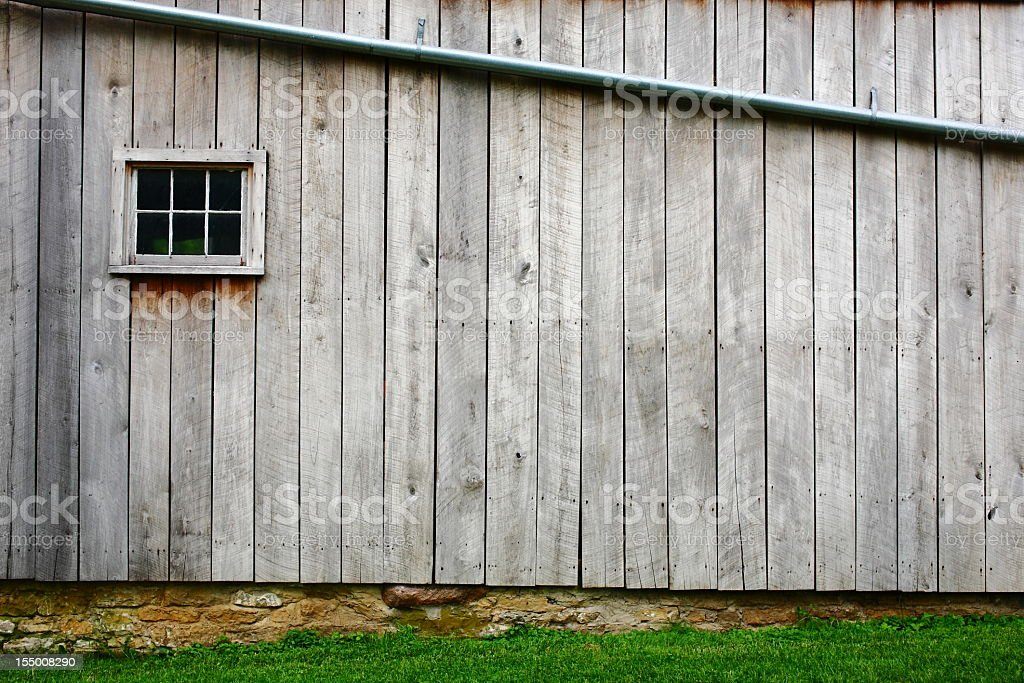Close-up of the wood on the side of the barn stock photo