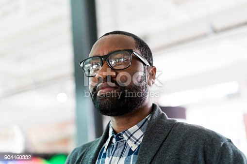 istock Close-up of thoughtful businessman in office 904460332