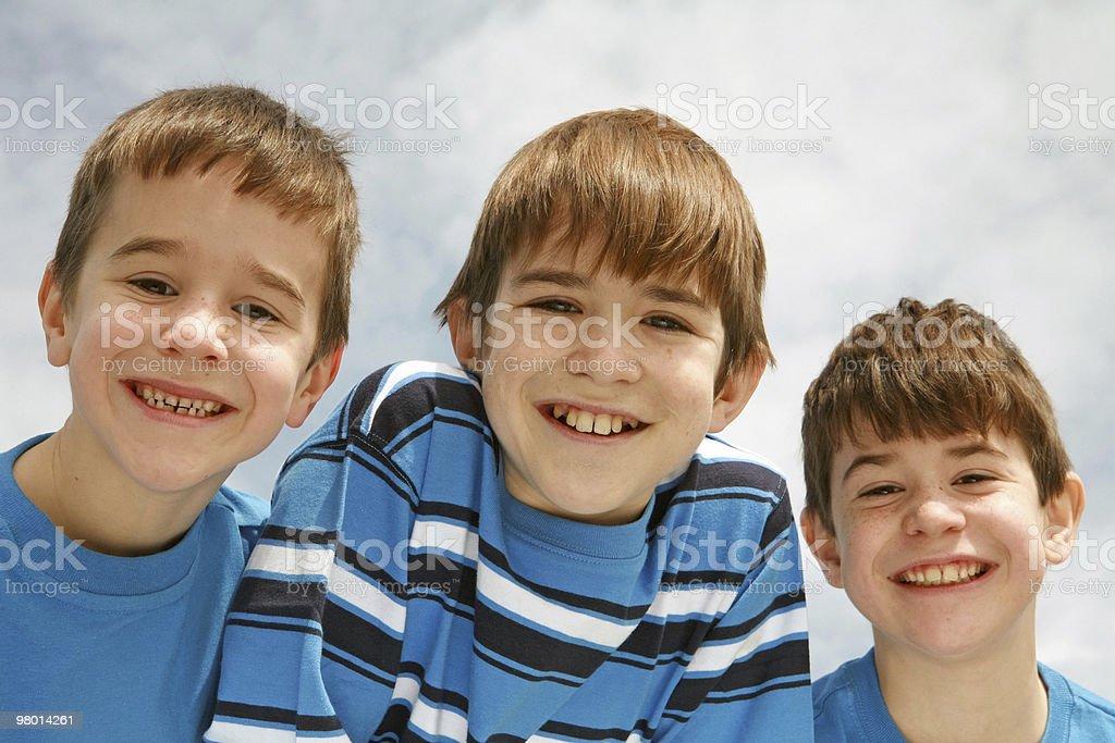 Close-up of Three Boys royalty-free stock photo