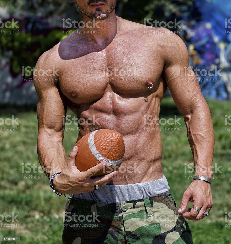 Football like man naked