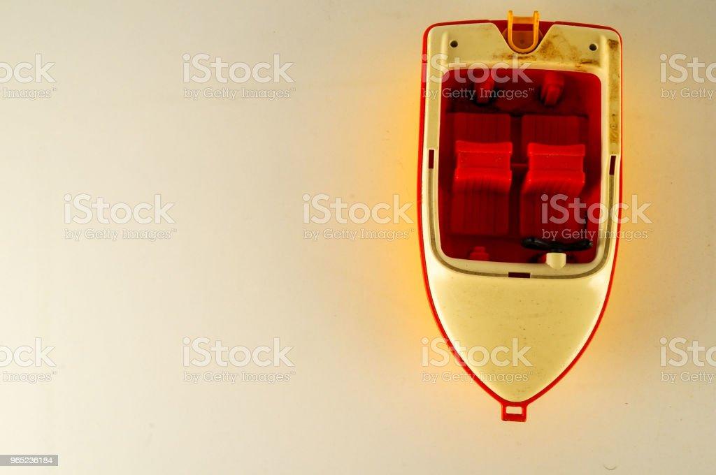 Close-up of toy boat zbiór zdjęć royalty-free