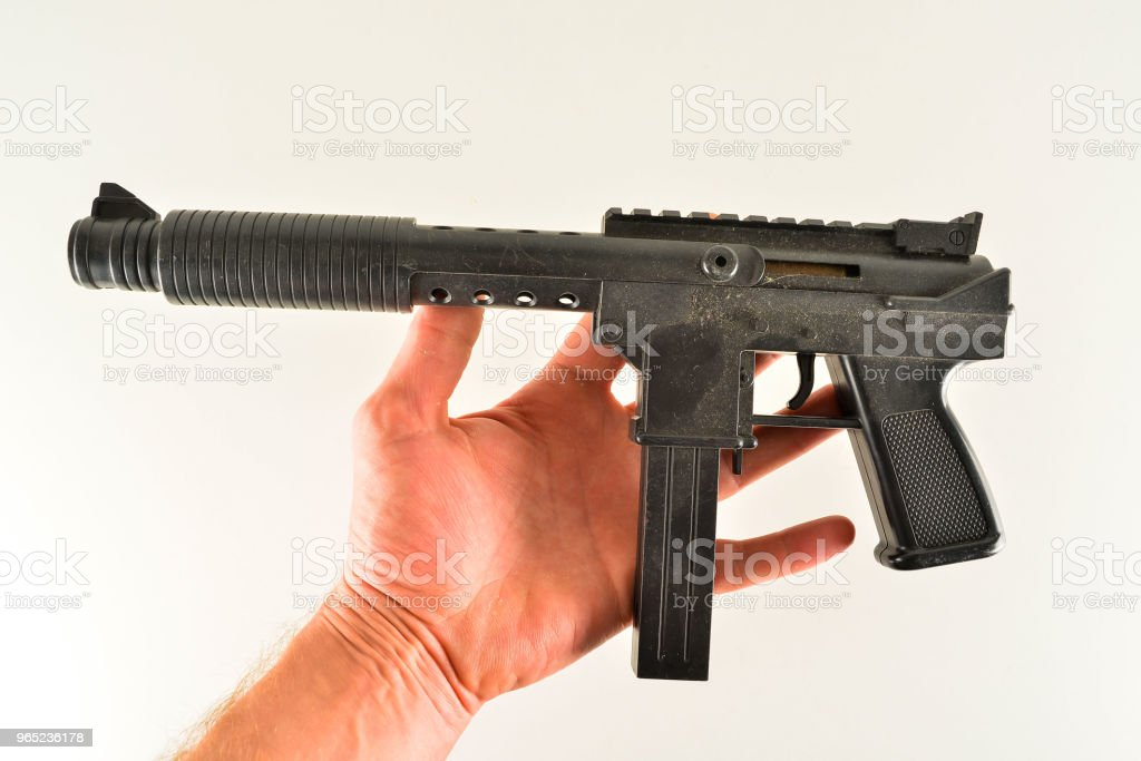 Close-up of toy gun royalty-free stock photo
