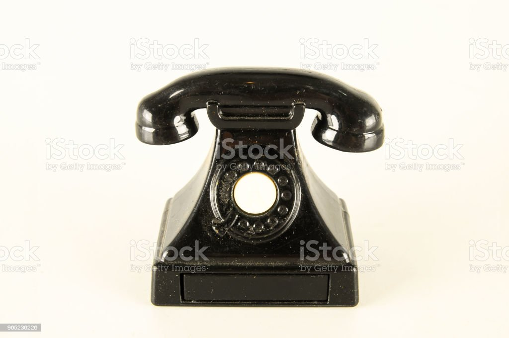 Close-up of toy telephone royalty-free stock photo