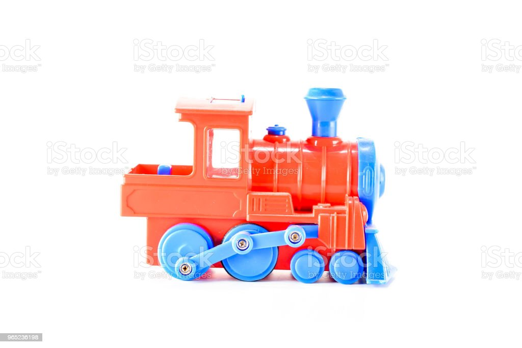 Close-up of toy train royalty-free stock photo