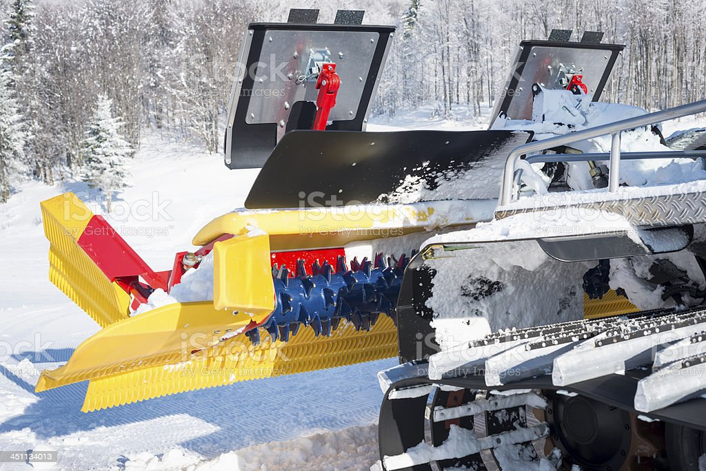 Close-up of Trackmaster in Slovenian Alps Ski Resort royalty-free stock photo