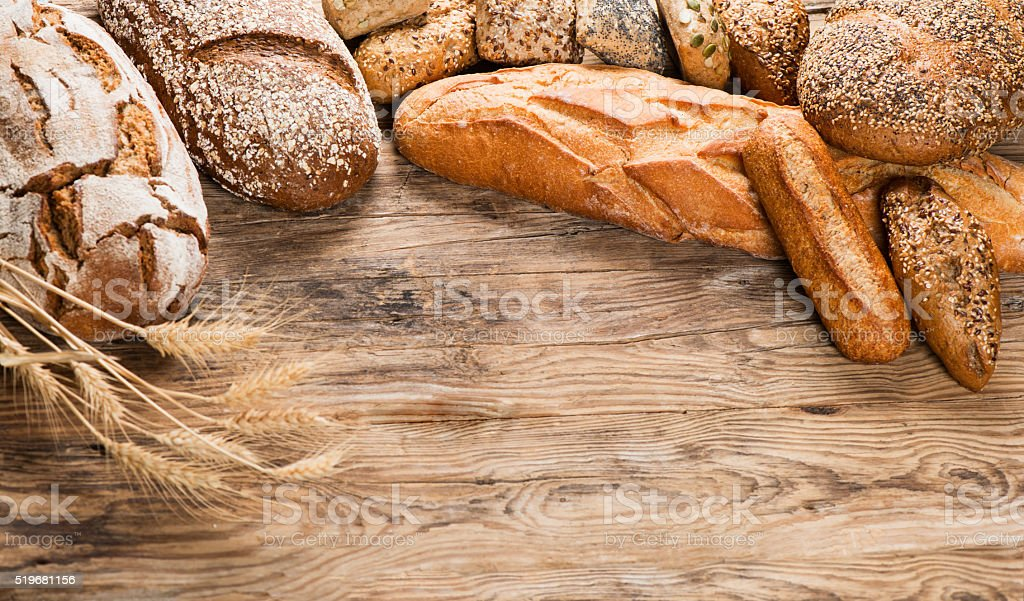 Close-up of traditional bread. stock photo
