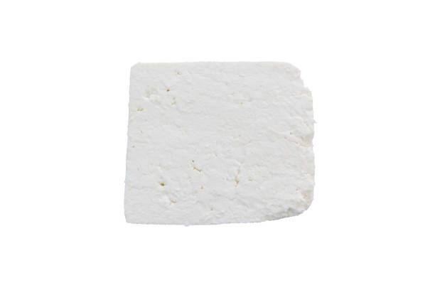 Closeup of traditional bulgarian white cheese stock photo