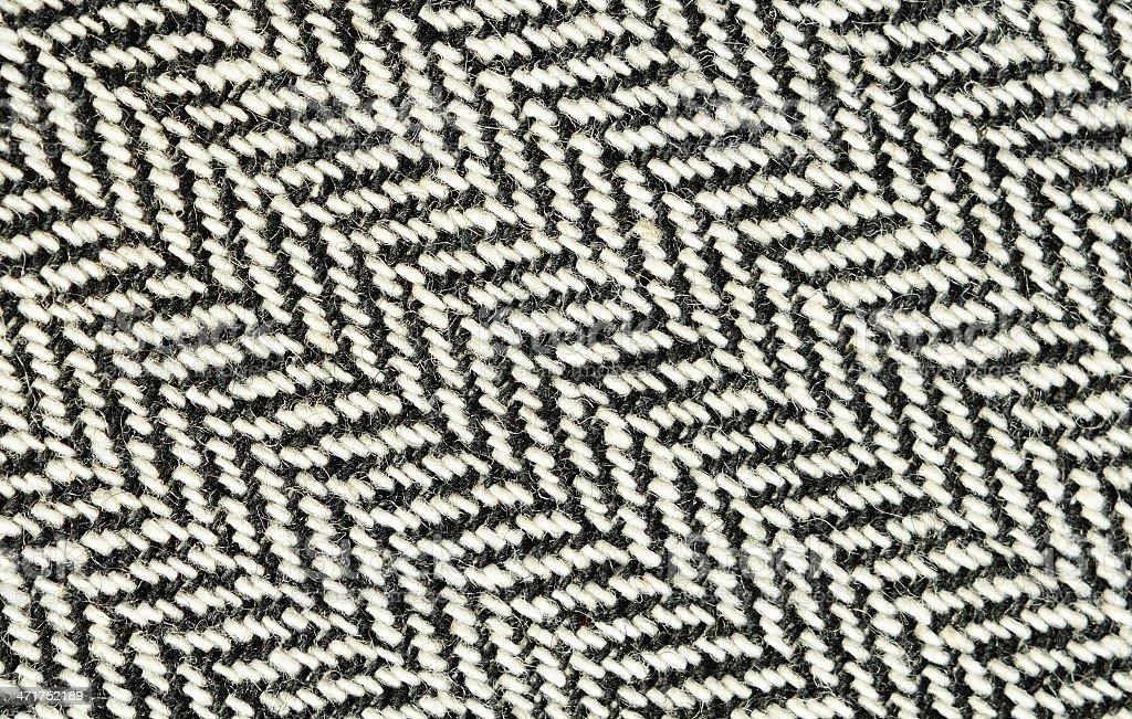 Closeup of tweed fabric stock photo