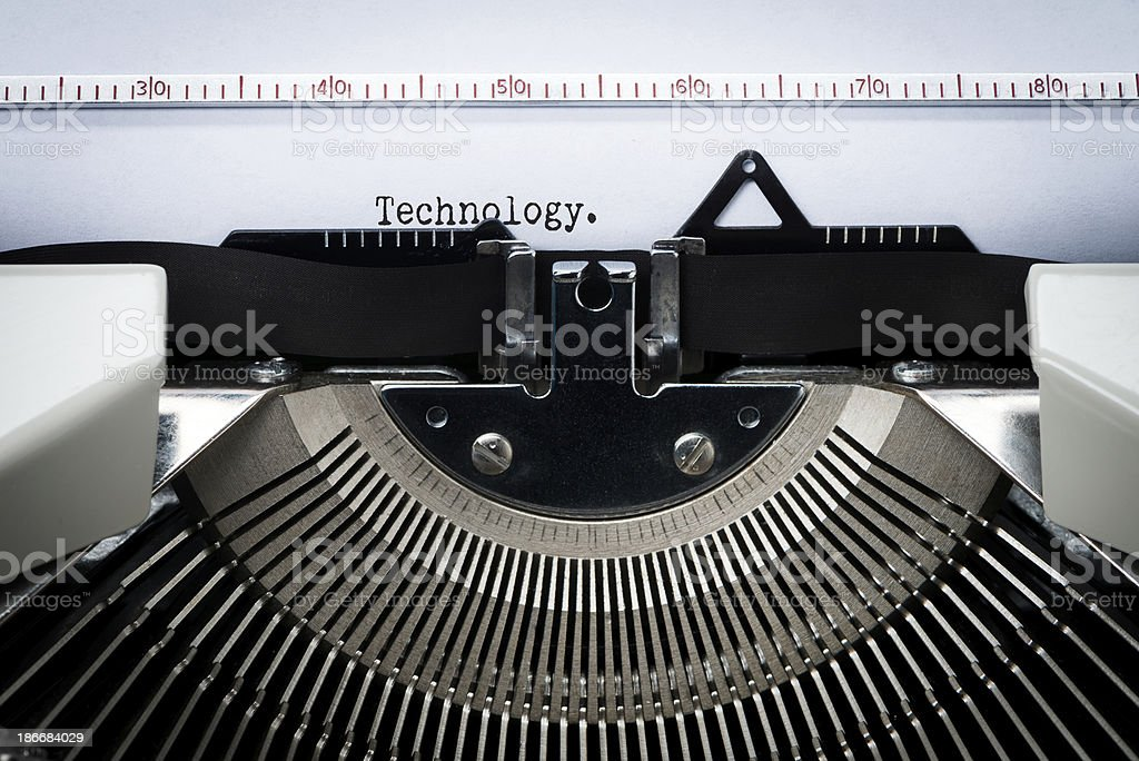 Closeup of Typewriter Letters royalty-free stock photo
