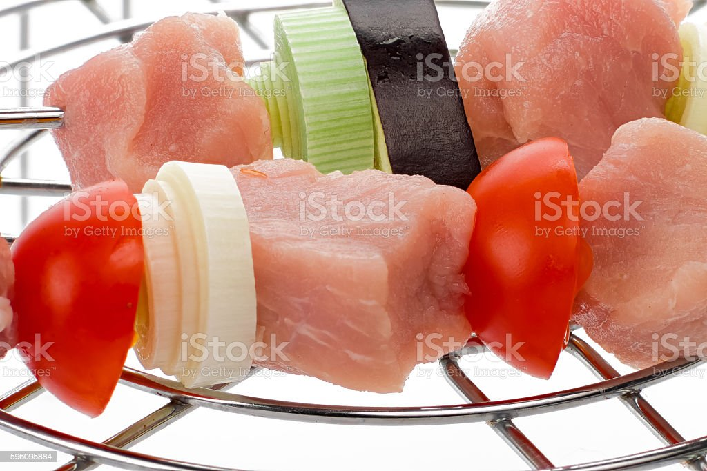 Closeup of uncooked grill royalty-free stock photo