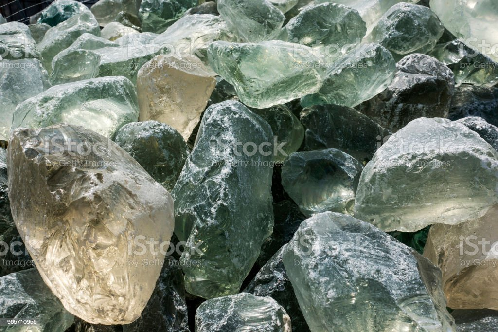 Close-up of untreated natural green glass rock - Royalty-free Beauty In Nature Stock Photo