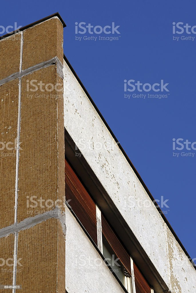 Close-up of urban building royalty-free stock photo